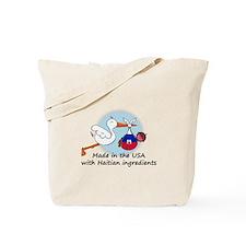 Stork Baby Haiti USA Tote Bag