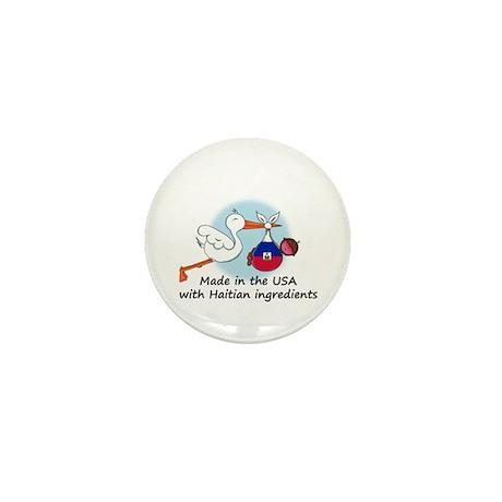 Stork Baby Haiti USA Mini Button
