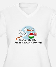 Stork Baby Hungary USA T-Shirt
