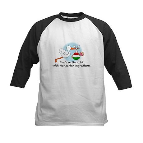 Stork Baby Hungary USA Kids Baseball Jersey