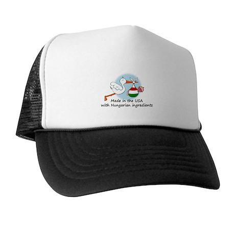 Stork Baby Hungary USA Trucker Hat