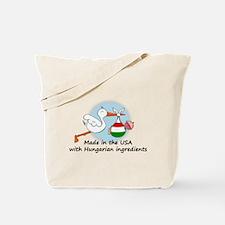 Stork Baby Hungary USA Tote Bag