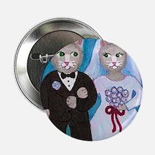 "Wedding Cats 2.25"" Button"