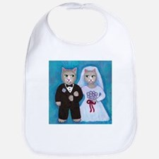 Wedding Cats Bib