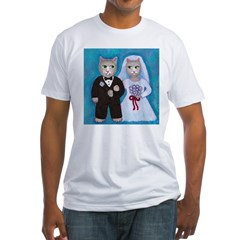 Wedding Cats Fitted T-Shirt