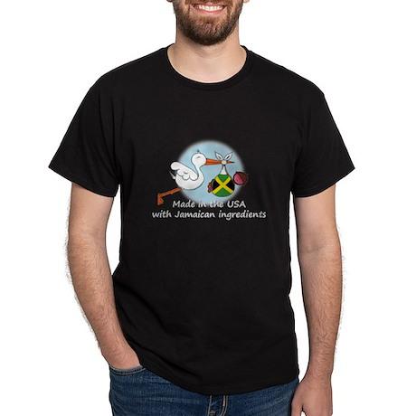 Stork Baby Jamaica USA Dark T-Shirt