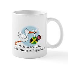 Stork Baby Jamaica USA Mug