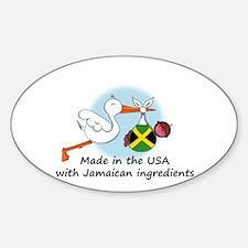 Stork Baby Jamaica USA Decal