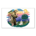 St Francis #2 / Havanese (w) Sticker (Rectangle)