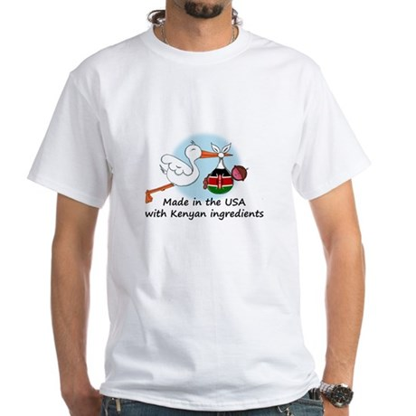 Stork Baby Kenya USA White T-Shirt