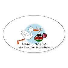 Stork Baby Kenya USA Decal