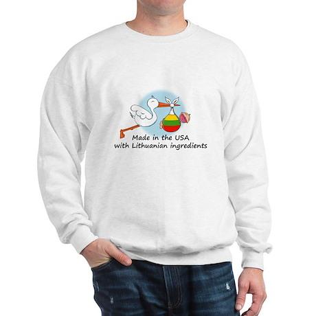 Stork Baby Lithuania USA Sweatshirt