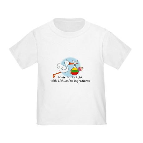 Stork Baby Lithuania USA Toddler T-Shirt