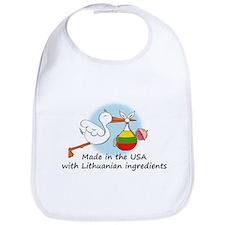Stork Baby Lithuania USA Bib