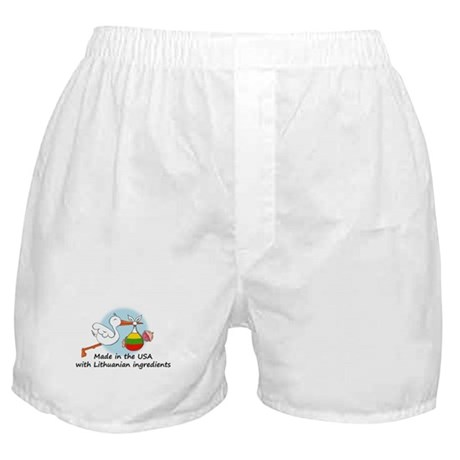 Stork Baby Lithuania USA Boxer Shorts
