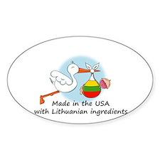 Stork Baby Lithuania USA Decal