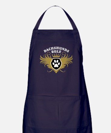 Dachshunds Rule Apron (dark)