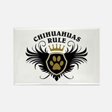 Chihuahuas Rule Rectangle Magnet