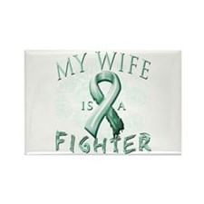 My Wife Is A Fighter Rectangle Magnet