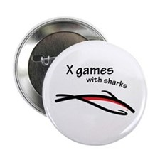 """X games with sharks 2.25"""" Button"""