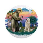 St. Fran #2/ Great Pyrenees #1 Ornament (Round)