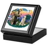 St. Fran #2/ Great Pyrenees #1 Keepsake Box