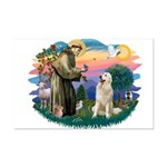 St. Fran #2/ Great Pyrenees #1 Mini Poster Print