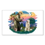 St. Fran #2/ Great Pyrenees #1 Sticker (Rectangle)