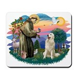 St. Fran #2/ Great Pyrenees #1 Mousepad