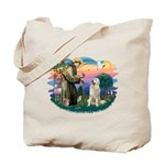 St. Fran #2/ Great Pyrenees #1 Tote Bag