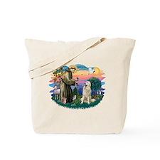 St. Fran #2/ Great Pyrenees #1 Tote Bag