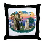 St. Fran #2/ Great Pyrenees #1 Throw Pillow