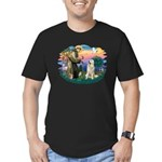 St. Fran #2/ Great Pyrenees #1 Men's Fitted T-Shir