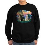 St. Fran #2/ Great Pyrenees #1 Sweatshirt (dark)