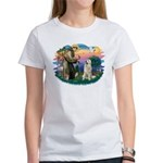 St. Fran #2/ Great Pyrenees #1 Women's T-Shirt