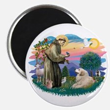 St. Fran #2/ Great Pyrenees (#2) Magnet