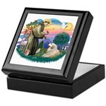 St. Fran #2/ Great Pyrenees (#2) Keepsake Box