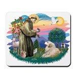 St. Fran #2/ Great Pyrenees (#2) Mousepad