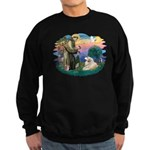 St. Fran #2/ Great Pyrenees (#2) Sweatshirt (dark)