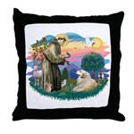 St. Fran #2/ Great Pyrenees (#2) Throw Pillow