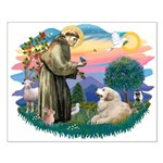 St. Fran #2/ Great Pyrenees (#2) Small Poster