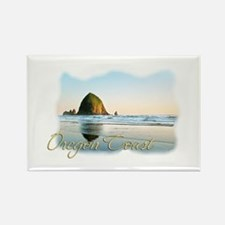 Haystack Rock Rectangle Magnet