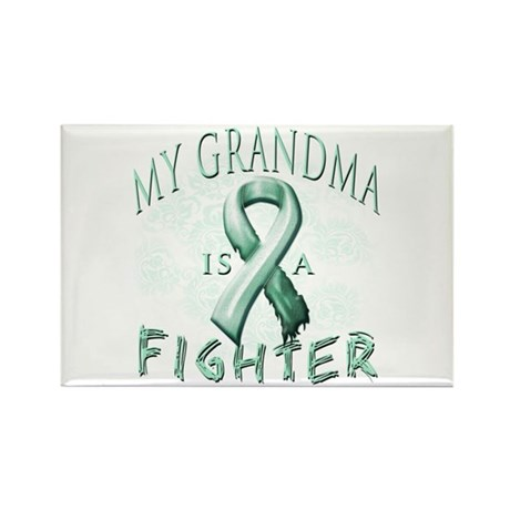 My Grandma Is A Fighter Rectangle Magnet (100 pack