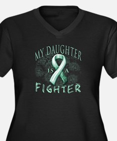 My Daughter Is A Fighter Women's Plus Size V-Neck
