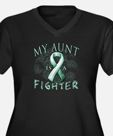 My Aunt Is A Fighter Women's Plus Size V-Neck Dark