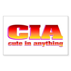 CIA cute in anything Decal