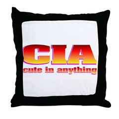 CIA cute in anything Throw Pillow