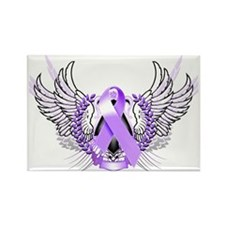 Awareness Tribal Purple Rectangle Magnet