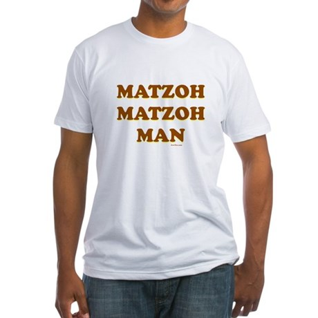 Matzoh Man Passover Fitted T-Shirt