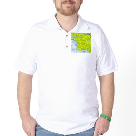 LAX Sectional Chart Golf Shirt